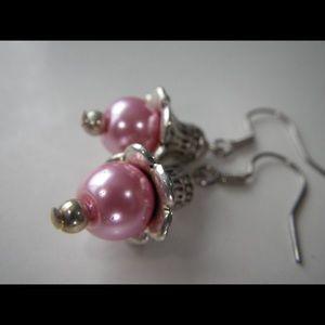 GCD Jewelry Jewelry - Pink pearl earrings (E012) 🌸